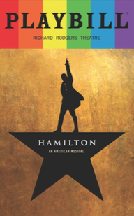 Hamilton June 2017 Playbill With Rainbow Pride Logo Playbill Pride Playbillstore Com