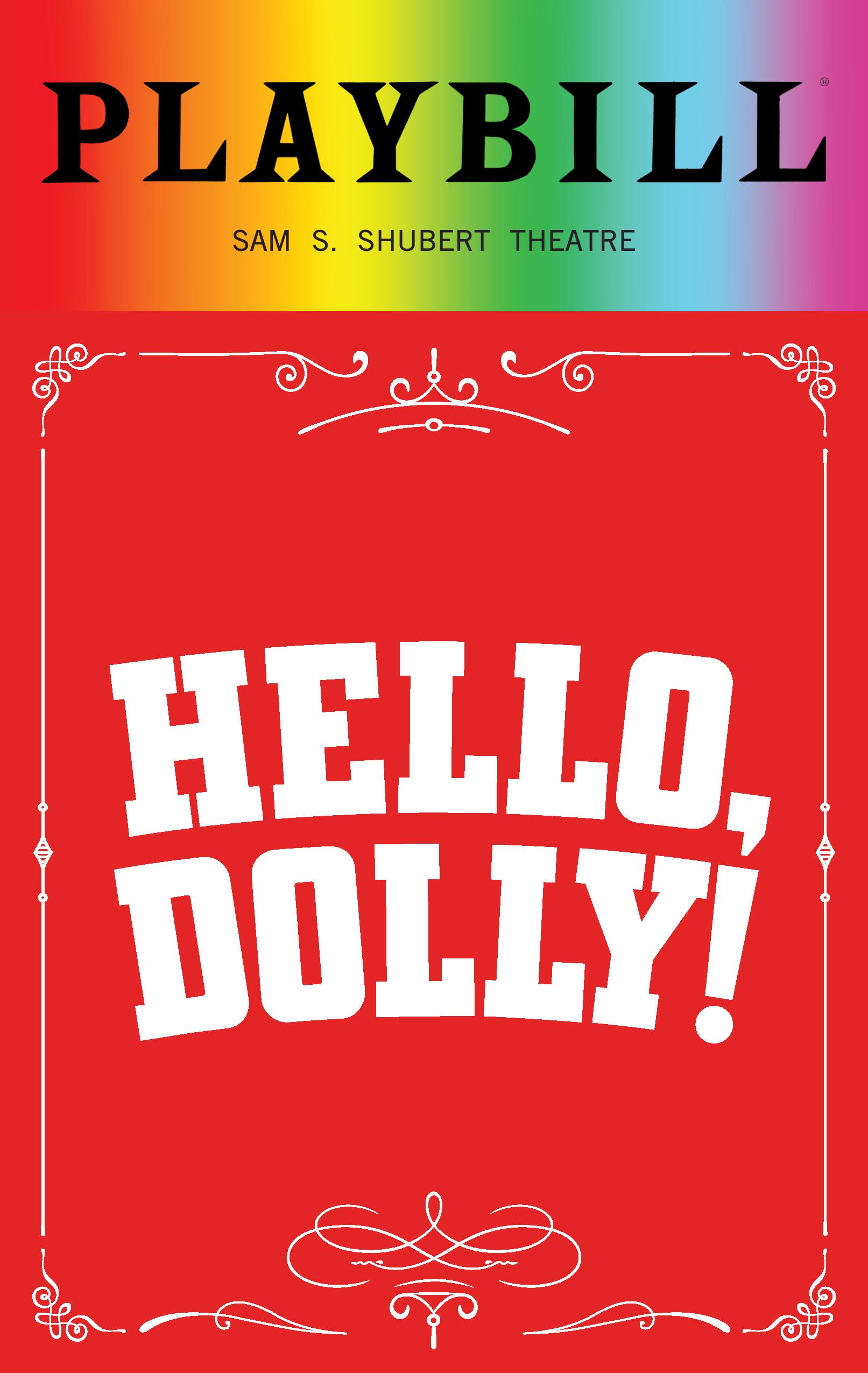 Hello Dolly June 2018 Playbill With Rainbow Pride Logo