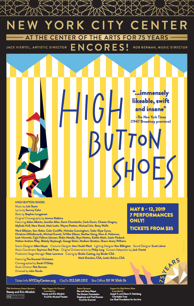 High Button Shoes Poster 2019 Encores Encores City