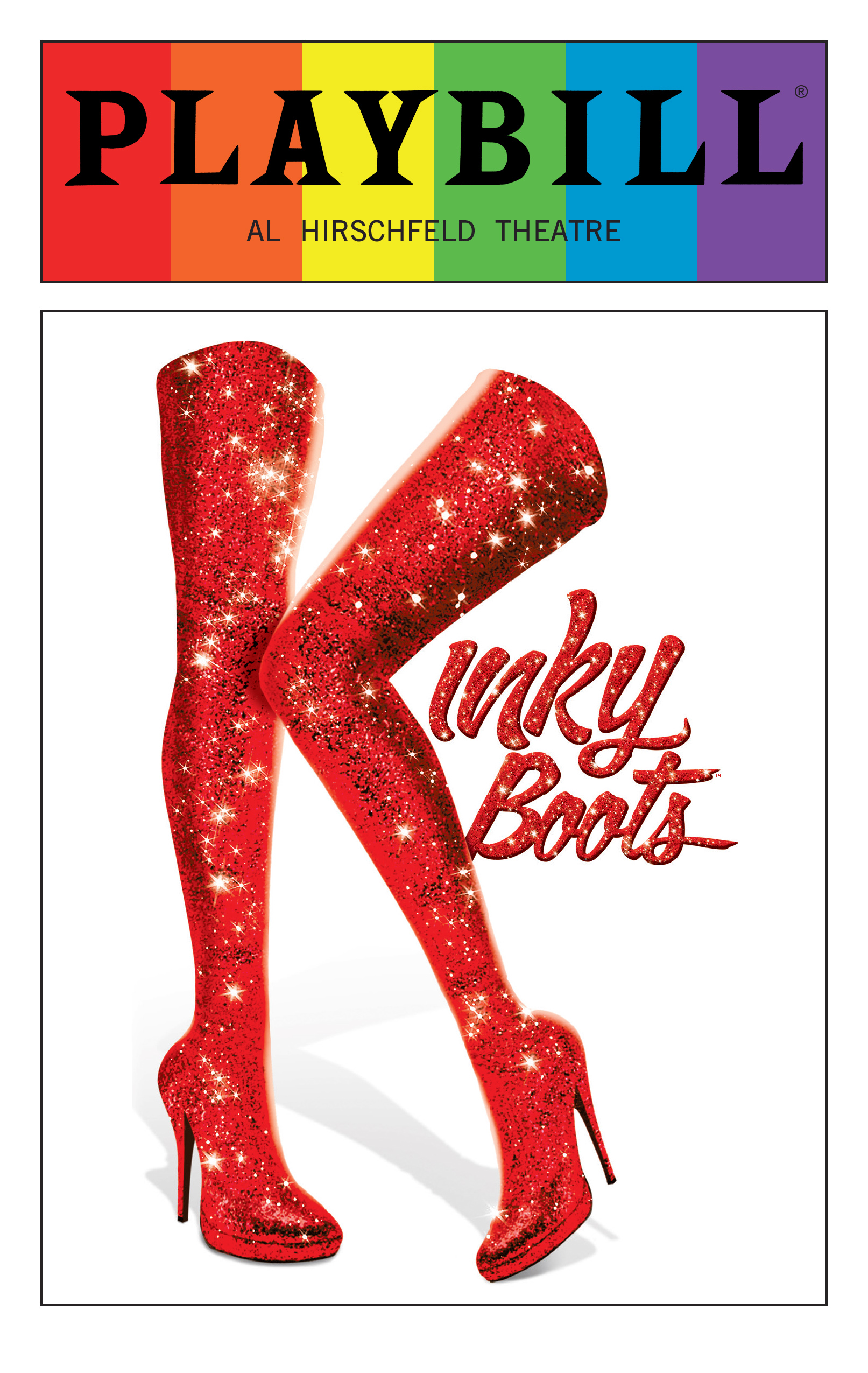 Kinky Boots - June 2016 Playbill with Rainbow Pride Logo ...