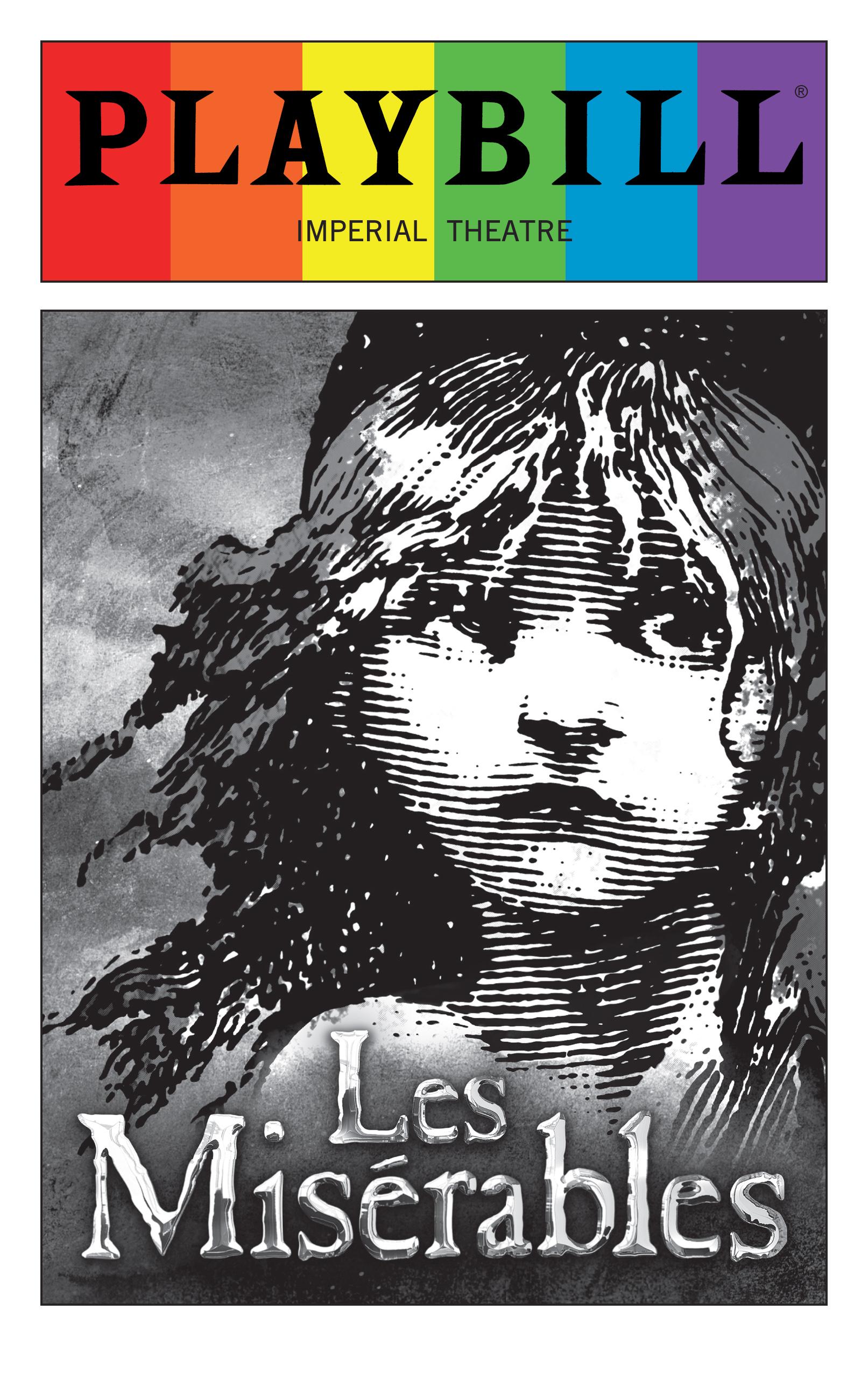 shop by show les miserables les miserables 2016 playbill rainbow pride logo
