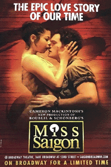 Miss Saigon 2017 Revival Poster Miss Saigon 2017 Revival