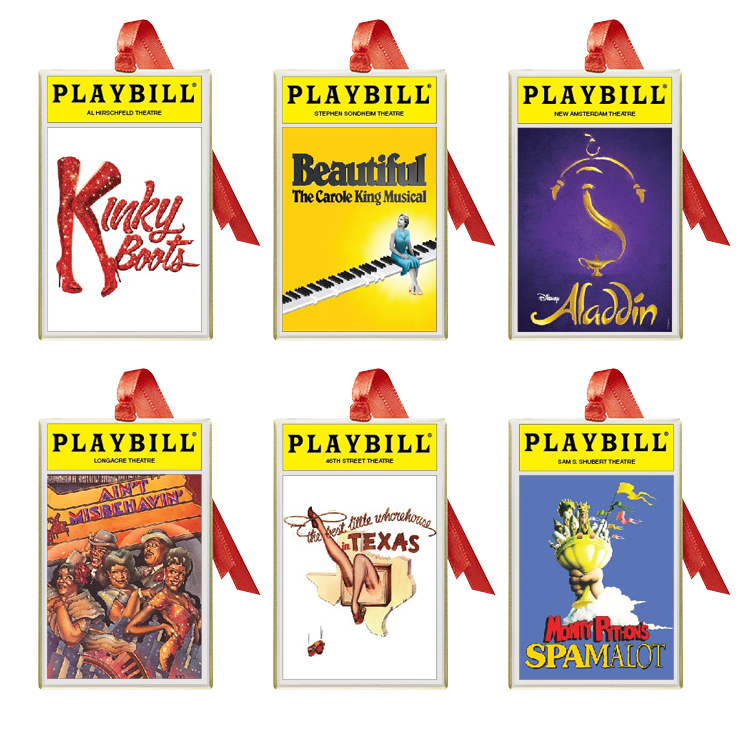 2018 Playbill Ornaments From The Broadway Cares Classic
