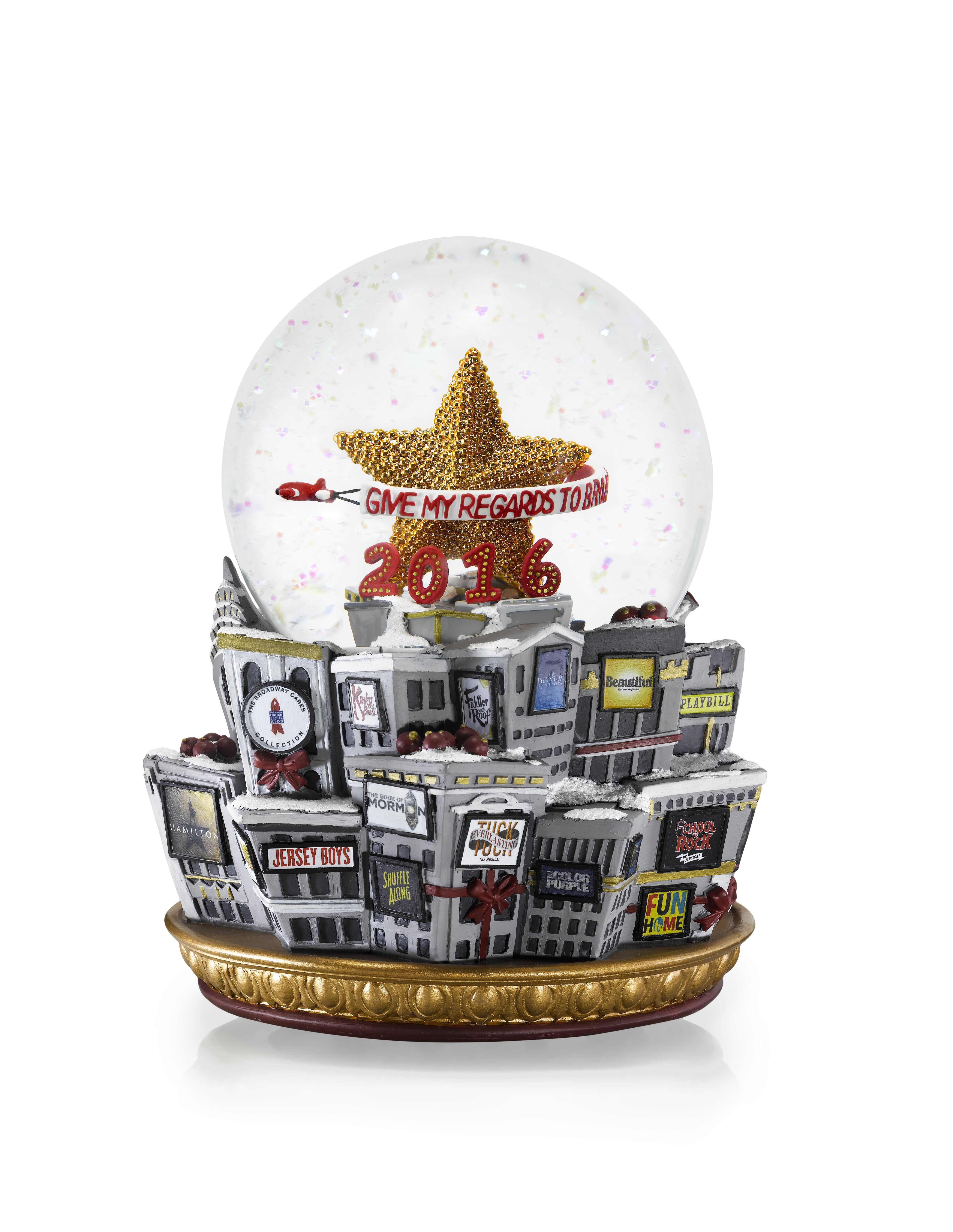 Broadway Cares 2016 Snow Globe The Broadway Cares
