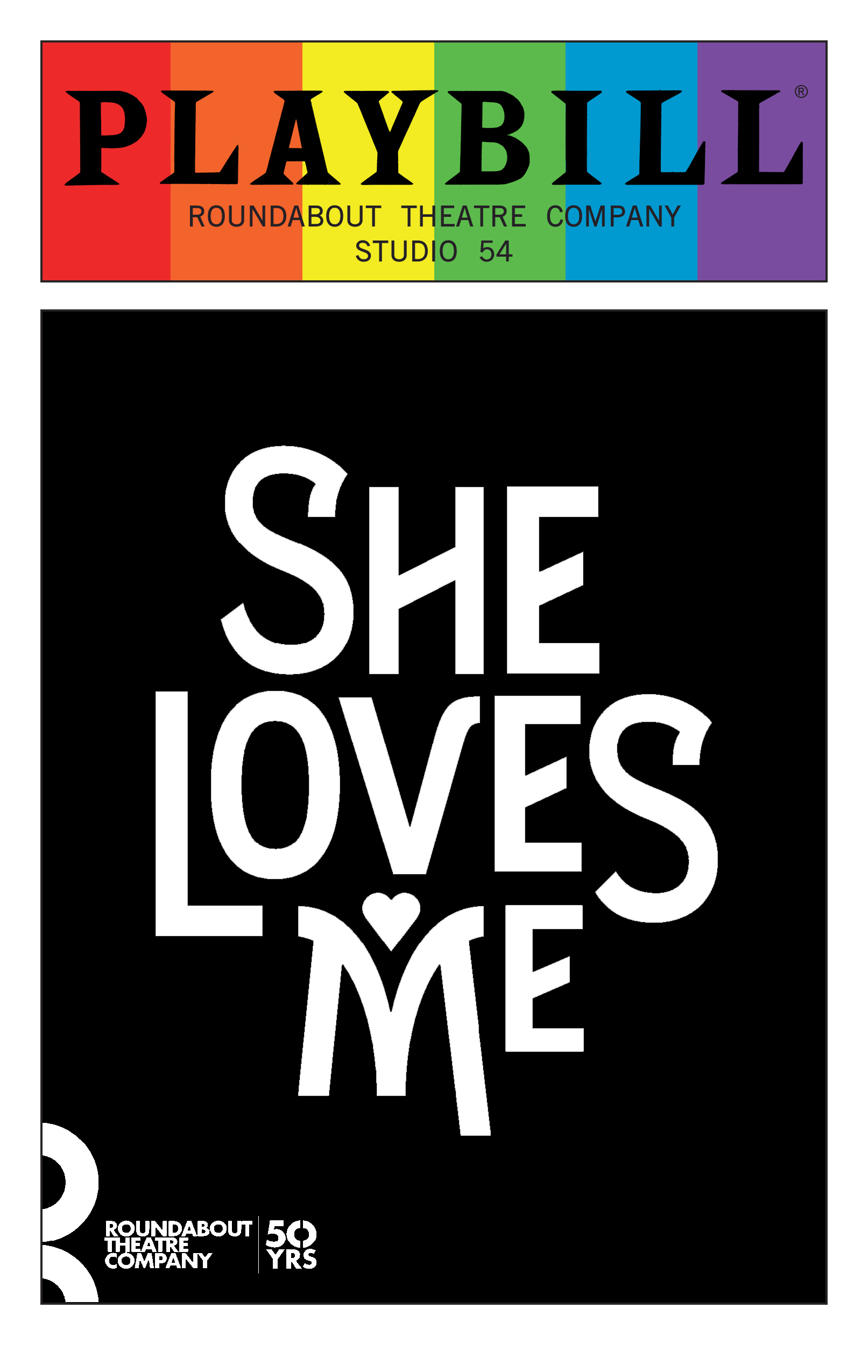 She Loves Me June 2016 Playbill With Rainbow Pride Logo
