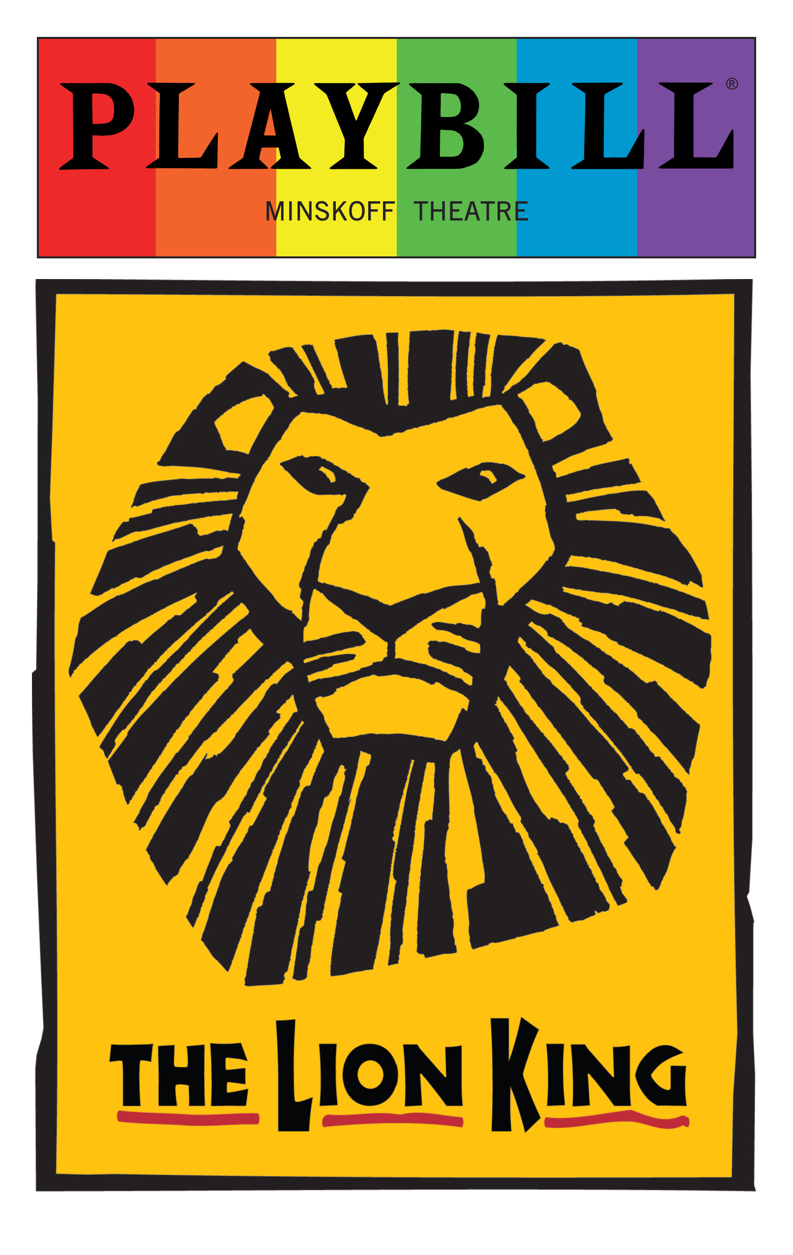 The Lion King June 2016 Playbill With Rainbow Pride Logo