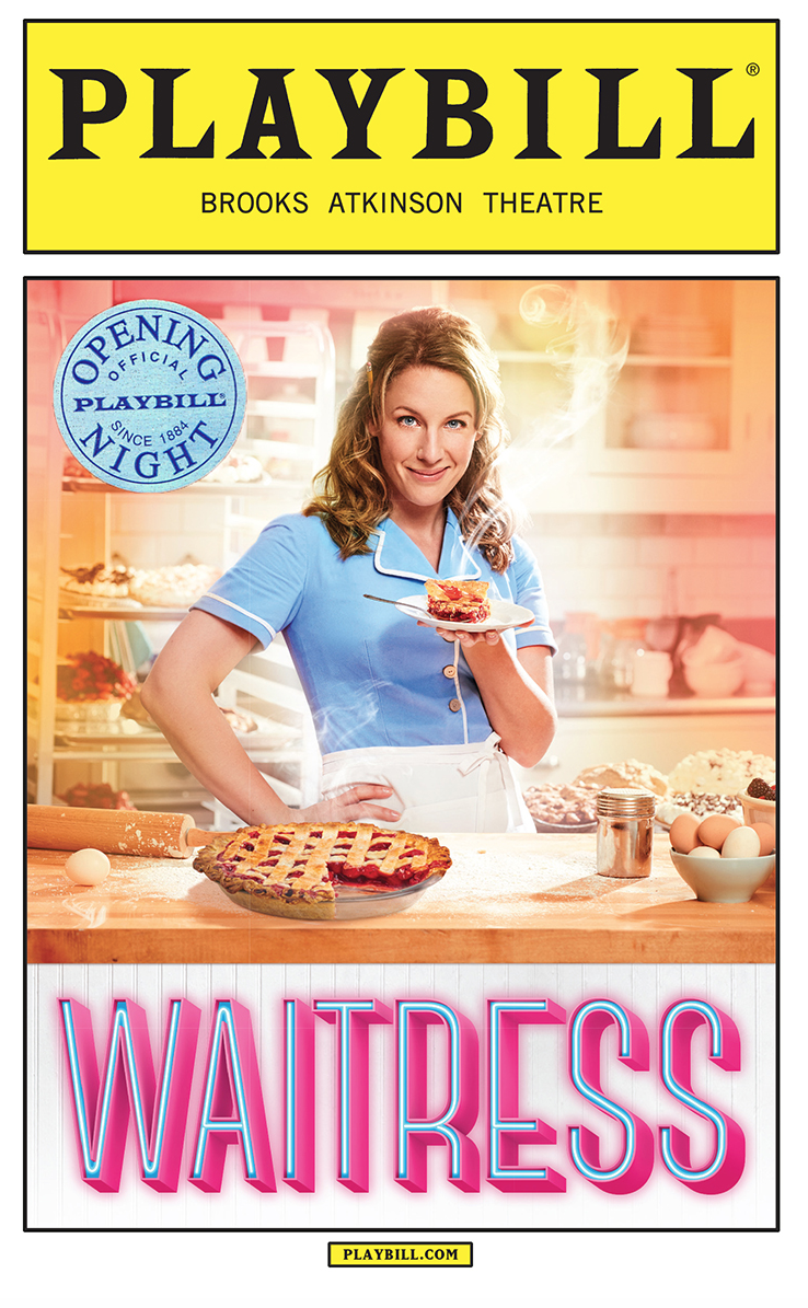 Waitress Limited Edition Official Opening Night Playbill