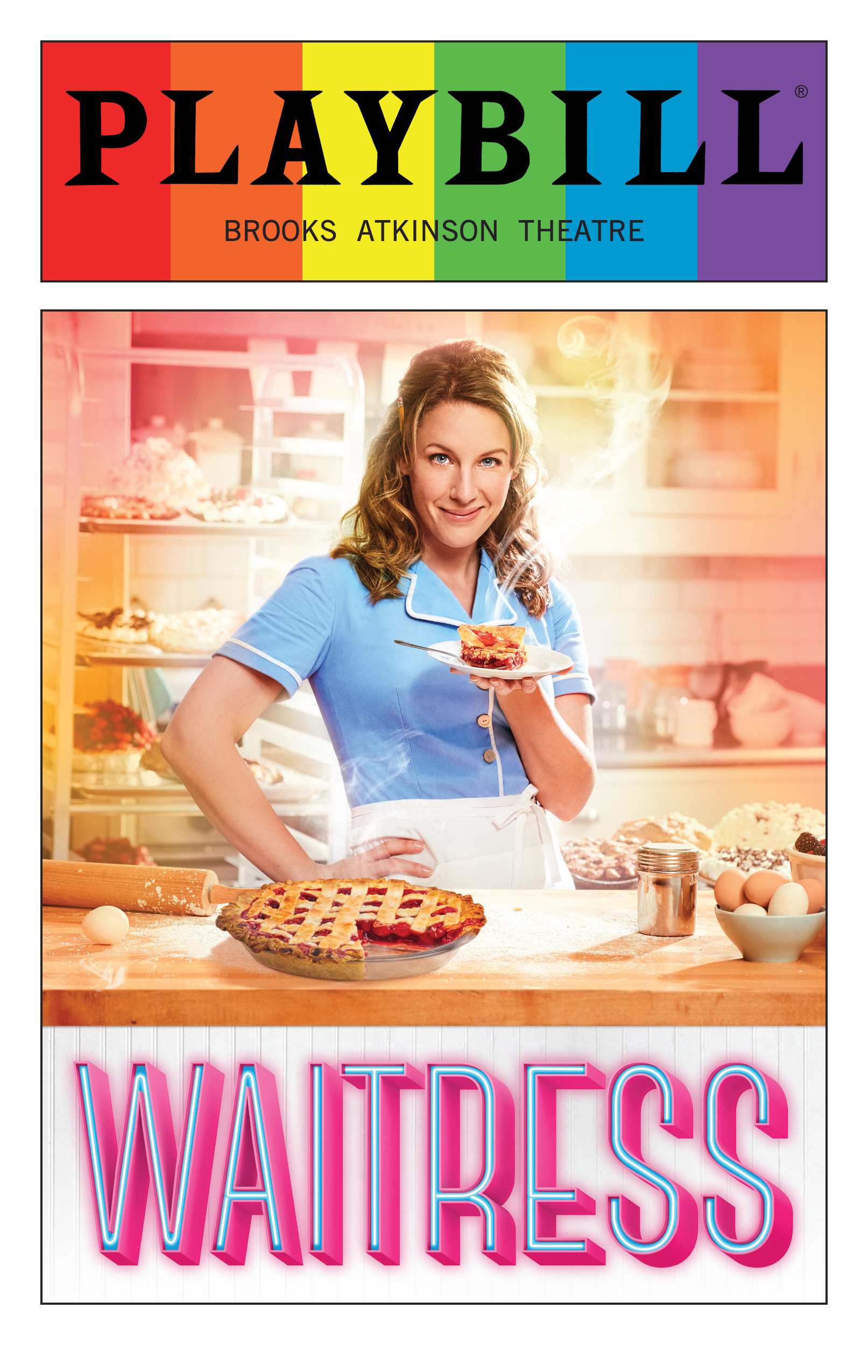 Waitress June 2016 Playbill With Rainbow Pride Logo