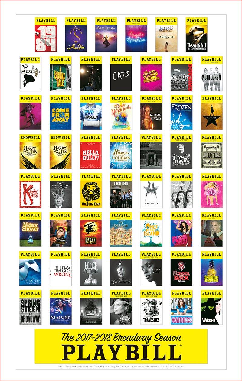 broadway season playbill poster 2017 2018 playbill merchandise