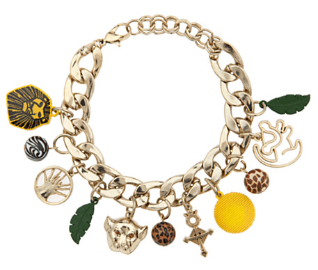 The Lion King Broadway Musical Charm Bracelet