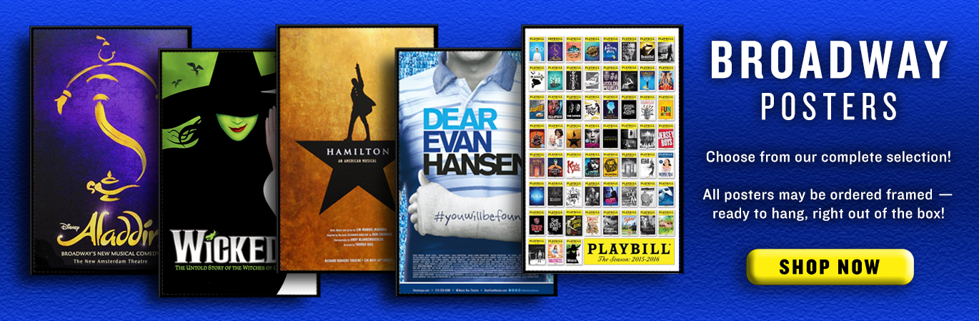 Broadway Posters - You'll find a huge selection of Broadway posters from all of your favorite musicals and plays here at PlaybillStore.com