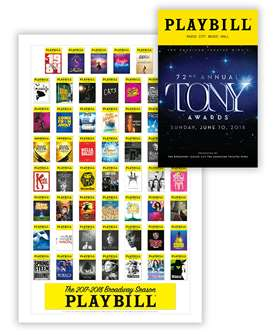 2018 TONY AWARDS PLAYBILL & SEASON POSTER COMBO