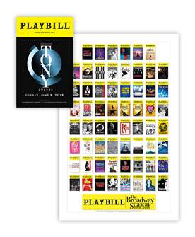 2019 Tony Awards Playbill & Season Poster Combo