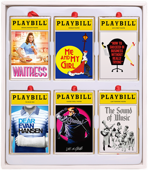 2020 Playbill Ornaments from the Broadway Cares Classic Collection - Set of Six