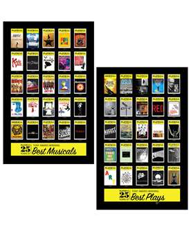 25 Years of Tony Award-Winning Plays and Musicals Poster Combo