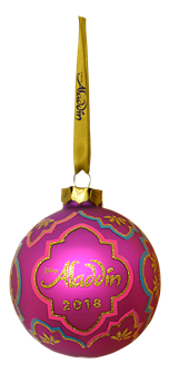 Aladdin 2018 Glass Ball Ornament