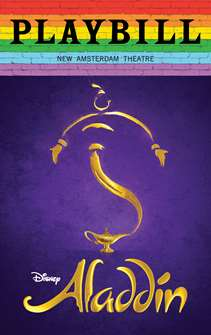 Aladdin - June 2019 Playbill with Rainbow Pride Logo