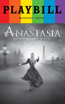 Anastasia - June 2017 Playbill with Rainbow Pride Logo