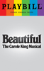 Beautiful The Carole King Musical - June 2017 Playbill with Rainbow Pride Logo