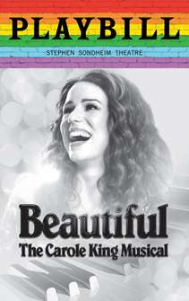 Beautiful The Carole King Musical - June 2019 Playbill with Rainbow Pride Logo