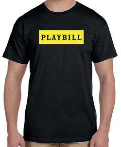 Black Playbill Logo T-Shirt
