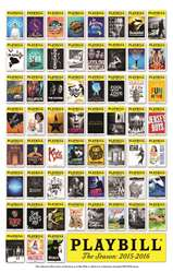 Broadway Season Playbill Poster 2015-2016