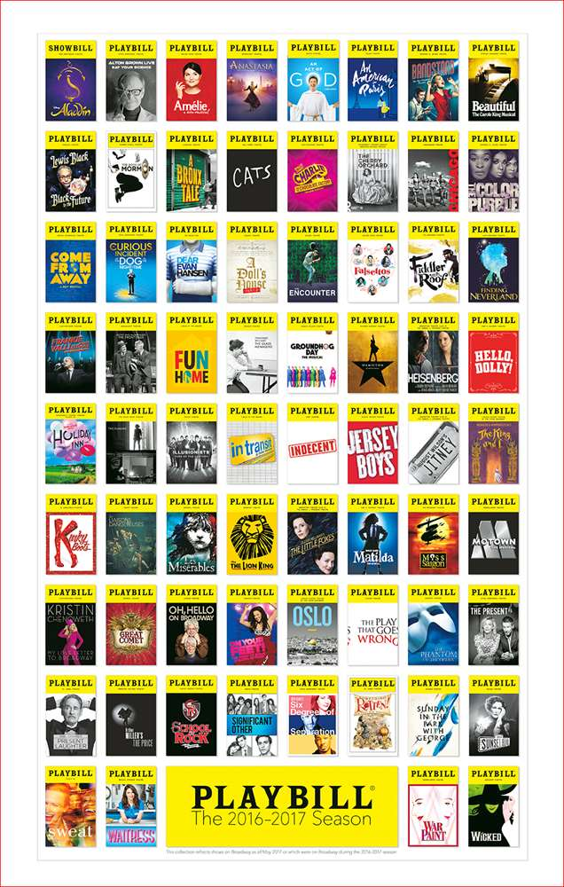 Broadway season playbill poster 2016 2017 posters for Best store to buy posters