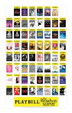 Broadway Season Playbill Poster 2018 - 2019