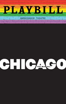 Chicago - June 2019 Playbill with Rainbow Pride Logo