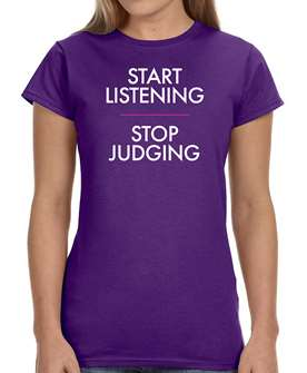 Children of a Lesser God - Start Listening Ladies Logo T-Shirt