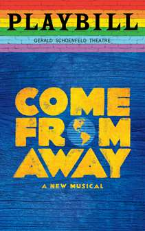 Come From Away - June 2019 Playbill with Rainbow Pride Logo