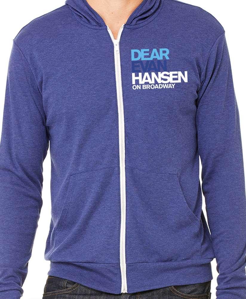 Dear Evan Hansen The Broadway Musical Zippered Hoodie Dear Evan Hansen Playbillstore Com