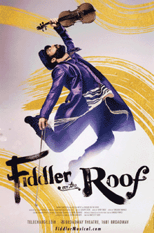 Fiddler on the Roof the Musical Broadway Poster
