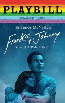Frankie and Johnny in the Clair de Lune - June 2019 Playbill with Rainbow Pride Logo