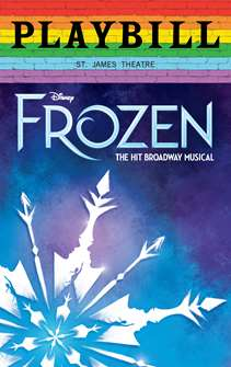 Frozen - June 2019 Playbill with Rainbow Pride Logo