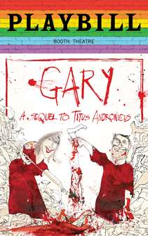 Gary: A Sequel to Titus Andronicus - June 2019 Playbill with Rainbow Pride Logo