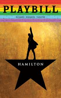 Hamilton - June 2019 Playbill with Rainbow Pride Logo