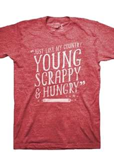Hamilton The Broadway Musical - Young Scrappy Red Tee