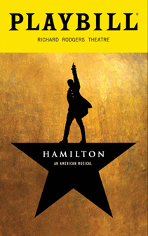 Hamilton - The Musical December 2016 Playbill