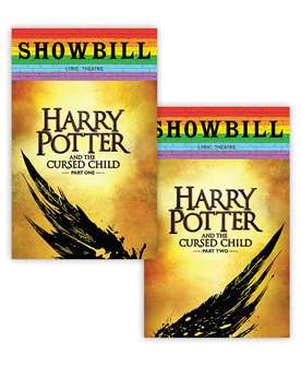 Harry Potter and the Cursed Child, Parts One and Two - June 2019 Playbill with Rainbow Pride Logo