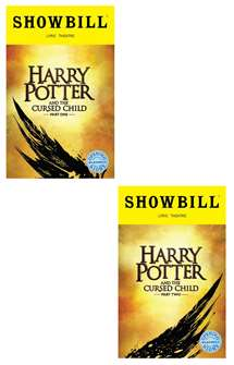 Harry Potter and the Cursed Child, Parts One and Two Limited Edition Official Opening Night Playbills