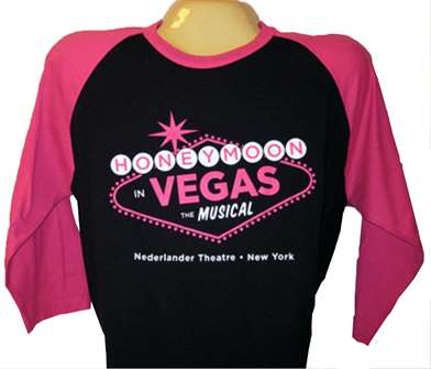Honeymoon in Vegas the Broadway Musical - Logo Baseball Style T-Shirt