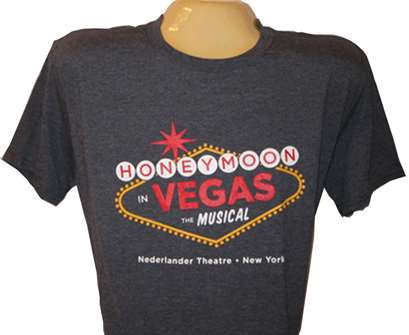 Honeymoon in Vegas the Broadway Musical -  Logo Charcoal T-Shirt