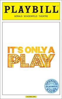 Its Only a Play Limited Edition Opening Night Playbill