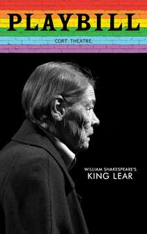 King Lear - June 2019 Playbill with Rainbow Pride Logo