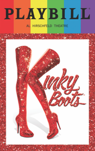 Kinky Boots - June 2017 Playbill with Rainbow Pride Logo