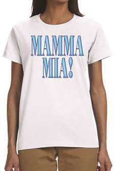 Mamma Mia! the Broadway Musical - Ladies White Logo T-Shirt