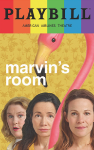 Marvins Room - June 2017 Playbill with Rainbow Pride Logo