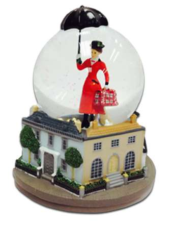 Mary Poppins The Broadway Musical Snow Globe With Music Box Mary