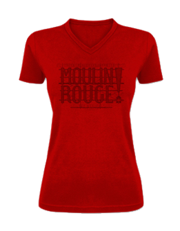 Moulin Rouge! the Broadway Musical Ladies Fitted T-Shirt